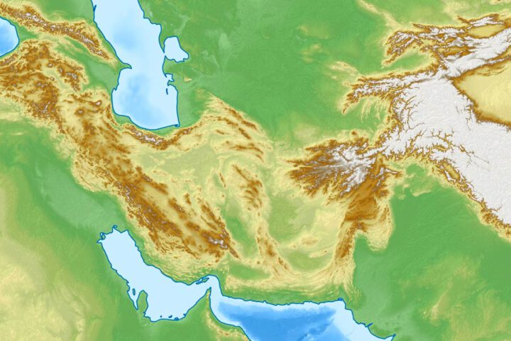 Topography of Iran