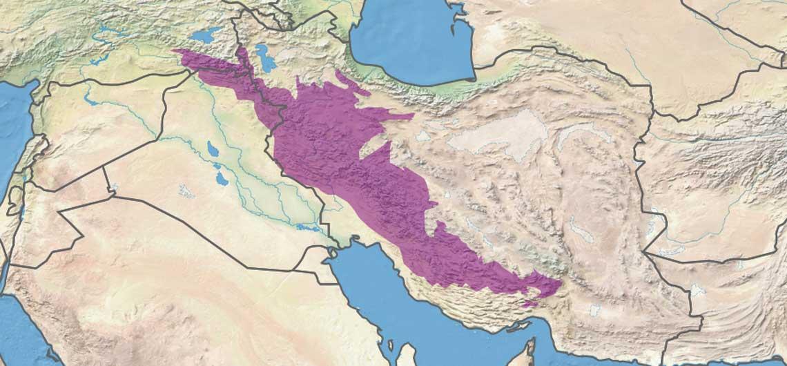 Iran Zagros Mountains Map