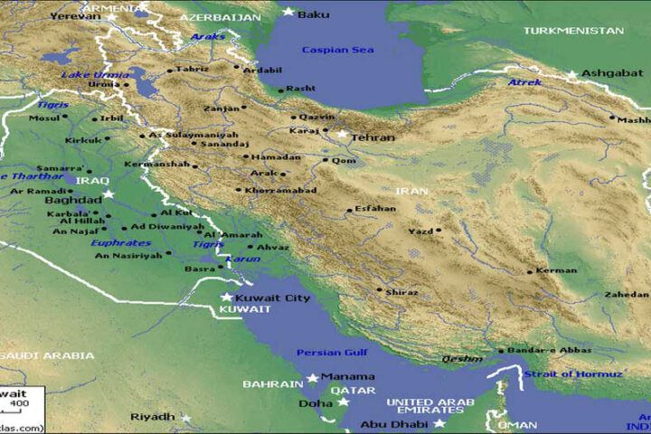Iran & Middle East Map