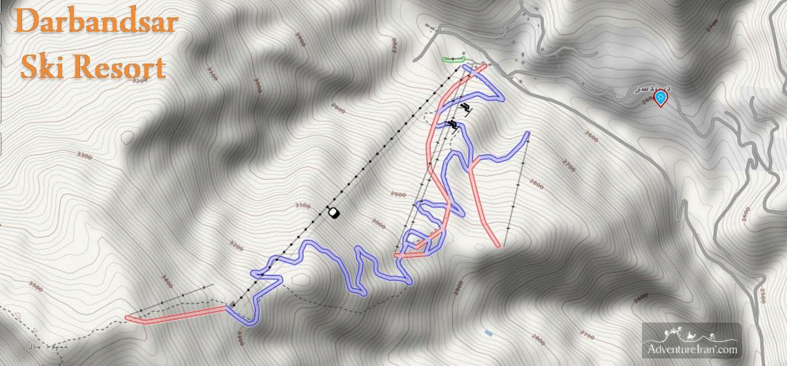 Darbandsa Piste Map